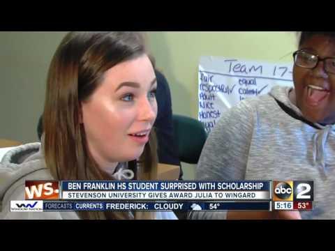 Ben Franklin High School student surprised with scholarship