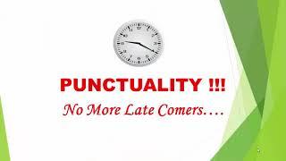 Punctuality - CMS Trustpuram