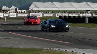 Battle Lamborghini Huracan vs Ferrari 488 GTB vs Dodge Viper '16