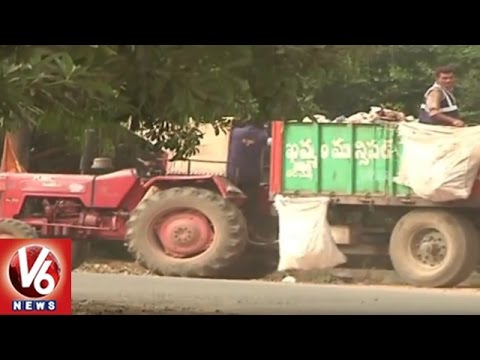 GPS Tracking System for Municipal Corporation Garbage Collection Vehicles | Khammam | V6 News