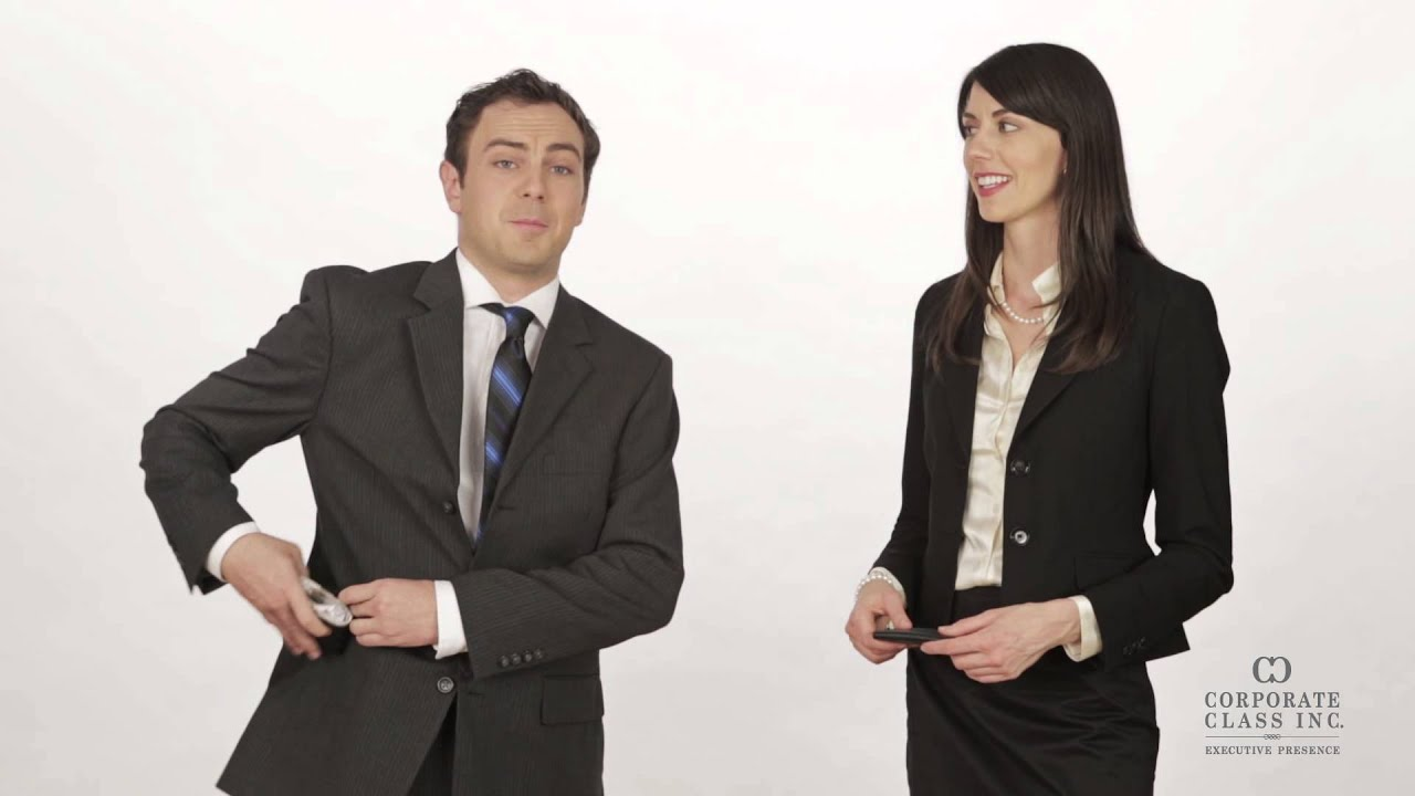 Business Card Etiquette: Executive Presence Training - YouTube