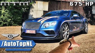 675HP Bentley Continental GT V8 MTM REVIEW POV Test Drive by AutoTopNL