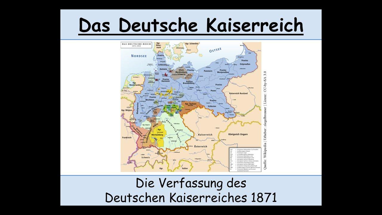 Die Verfassung Des Deutschen Kaiserreiches Von 1871 Erklärt