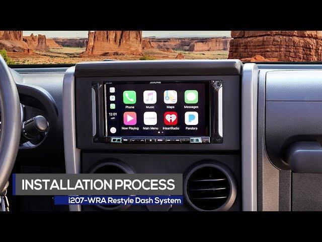 Alpine | 7-inch | i207-WRA Restyle Dash Installation Process | 2007-2010 Jeep Wrangler Edition