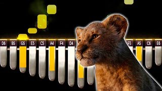 ✅ Can You Feel The Love Tonight - The Lion King | Kalimba Tutorial Easy