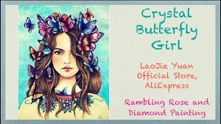 Unboxing Crystal Butterfly Girl Diamond Painting from LaoJieYuan Official Store on AliExpress