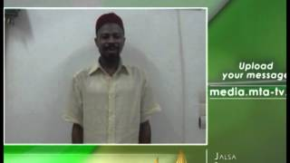 Fon, Yoruba - MTA Video Message from Benin - Jalsa Salana 2012 Germany - Islam Muslim Ahmadiyyat MTA