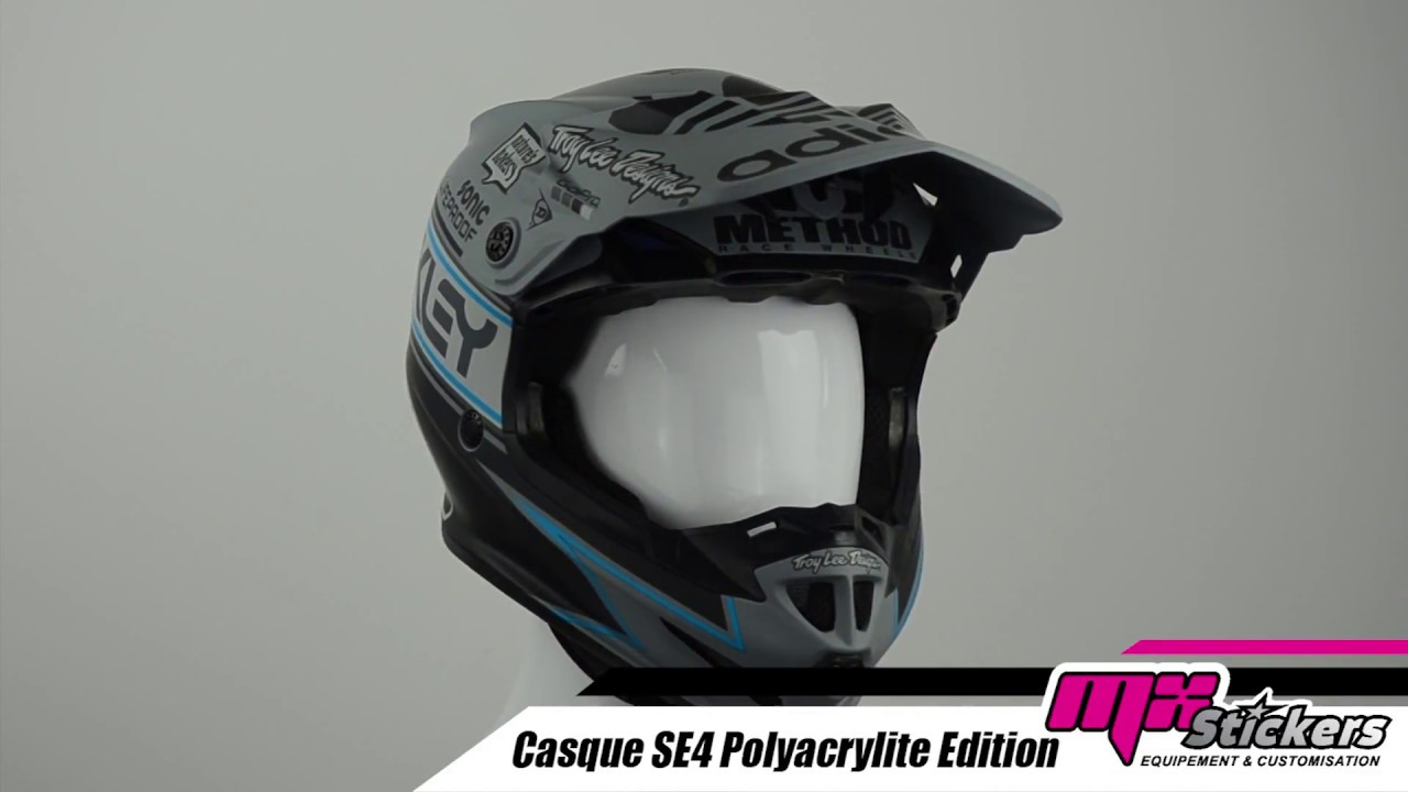 Casque Cross Troy Lee Designs Se4 Edition 2 Mx Stickers