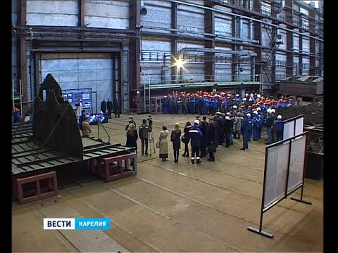 В Петрозаводске состоялась закладка 2 лоцманских катеров
