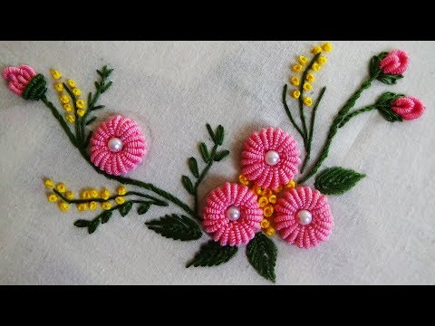 Hand Embroidery: Ring Bullion Knot Stitch