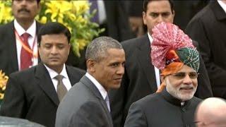 President makes history at India's Republic Day parade