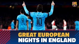 Some of Barça's most memorable perfomances in England