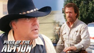 """Walker fights homicidal bounty hunter boone waxwel.from season one, episode one """"bounty"""" – races to catch an atm robber with a who's bet..."""