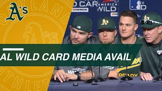 AL WC: Athletics prepare for Wild Card Game