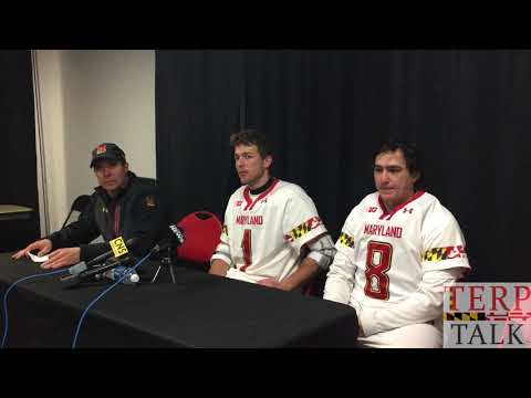 Maryland Lacrosse Press Conference after loss to Albany - John Tillman
