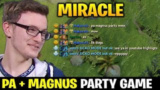 MIRACLE Techies Party vs PA + MAGNUS COMBO