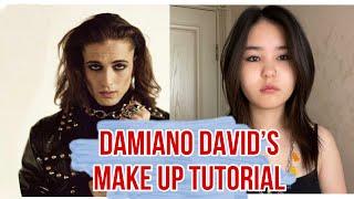 Damiano David s Make Up tutorial Повторяю макияж Måneskin