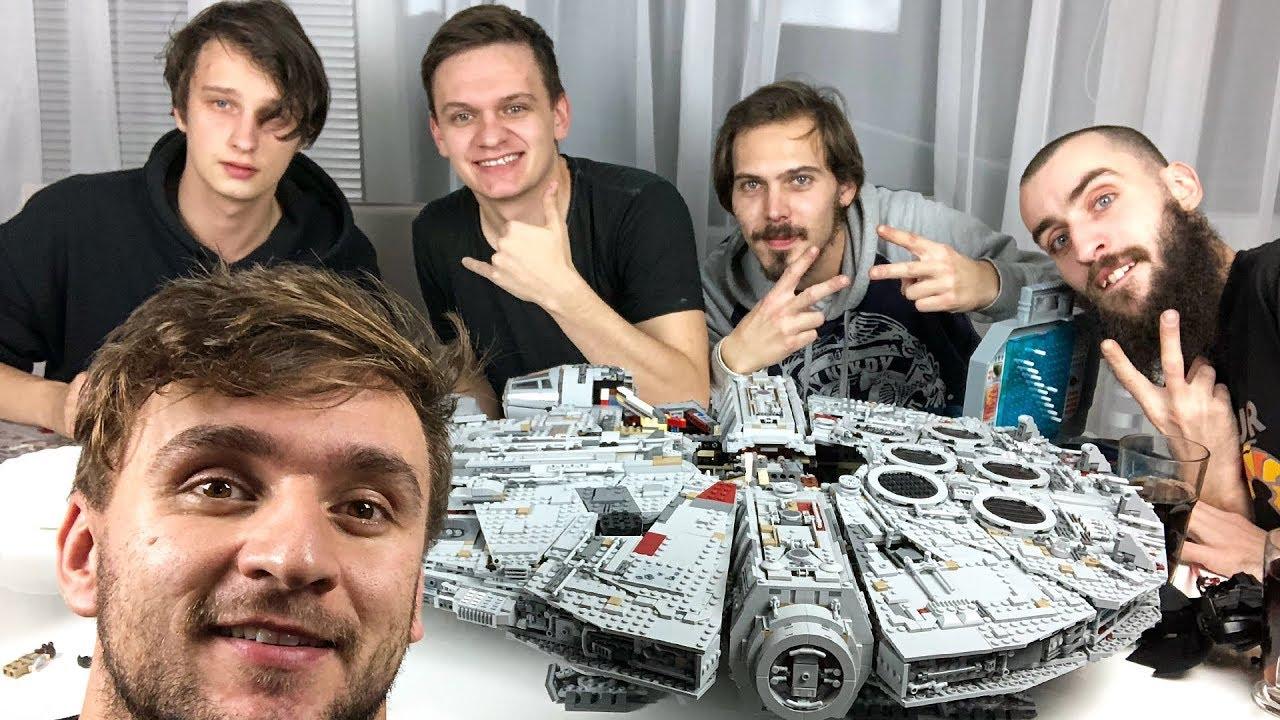 Stavíme přes 20 hodin největší sériové Lego světa!   Millennium Falcon, 7 500 kousků