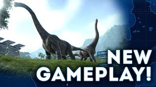 INCREDIBLE NEW Jurassic World Evolution Gameplay! 20 Minutes of New Dinosaurs Gameplay Walkthrough!