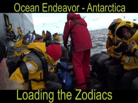zodiac loading ocean endeavor