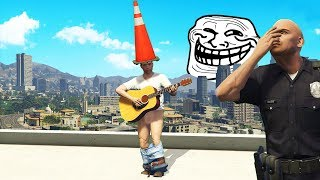 How To Annoy Cops Using a Guitar.. (GTA RP)