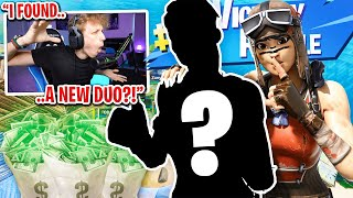 I got 100 FANS to scrim against my NEW DUO for $100 in Fortnite... (back to back wins)