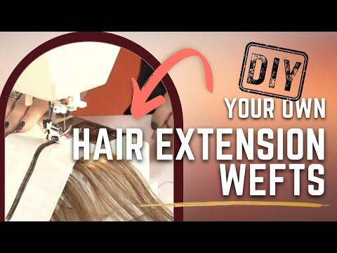 Learn How To Make Machine Sewn Wefts Tutorial - DoctoredLocks.com
