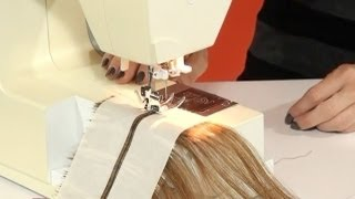 learn How to Make Machine Sewn Wefts Tutorial - DoctoredLocks.com