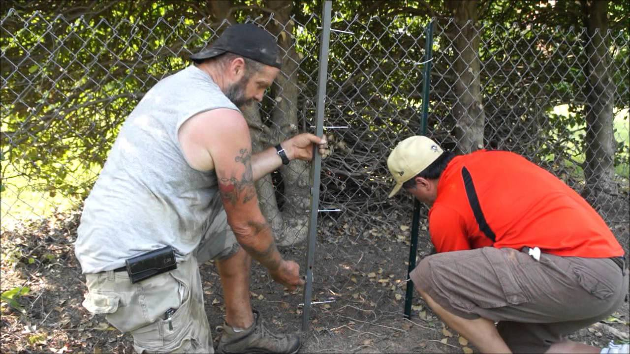 DIY Chain Link Fence Stretcher - YouTube