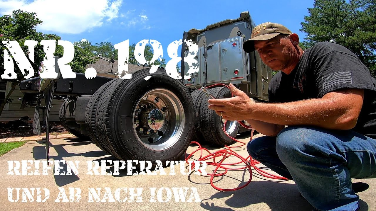 Mike on the Road ; Nr.198  Reifen Reperatur und ab nach Iowa