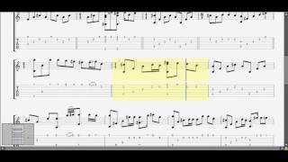 Bài thánh ca buồn (A) (Nguyễn Vũ ) guitar solo tab