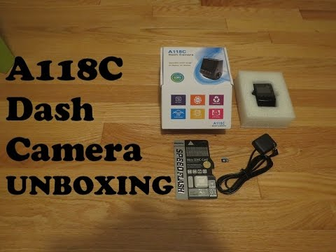 A118C Dash Camera With GPS - Unboxing