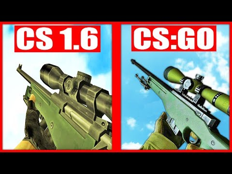 СРАВНЕНИЕ ЗВУКОВ ОРУЖИЯ COUNTER STRIKE GLOBAL OFFENSIVE Vs COUNTER STRIKE 1.6 !!!