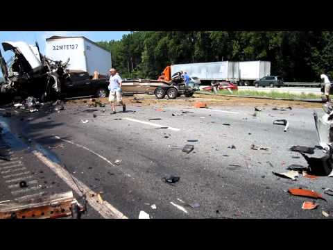 Deadly crash on I 85 Anderson SC. minutes after happening. 2