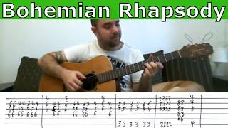 Fingerstyle Tutorial: Bohemian Rhapsody (Instrumental) - Guitar Lesson w/ TAB