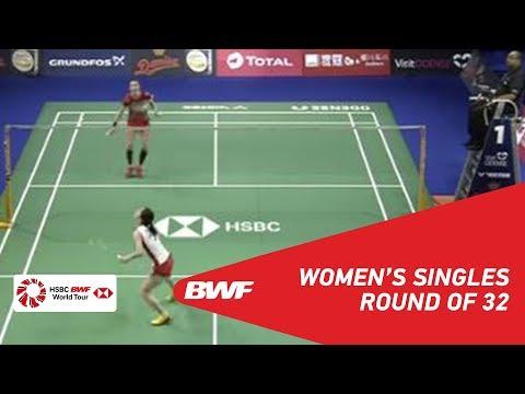 R32 | WS | Line Højmark KJAERSFELDT (DEN) vs Aya OHORI (JPN) | BWF 2018