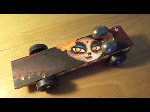 Girl Scout Pinewood Derby Car (Puff Derby) Book of Life Themed
