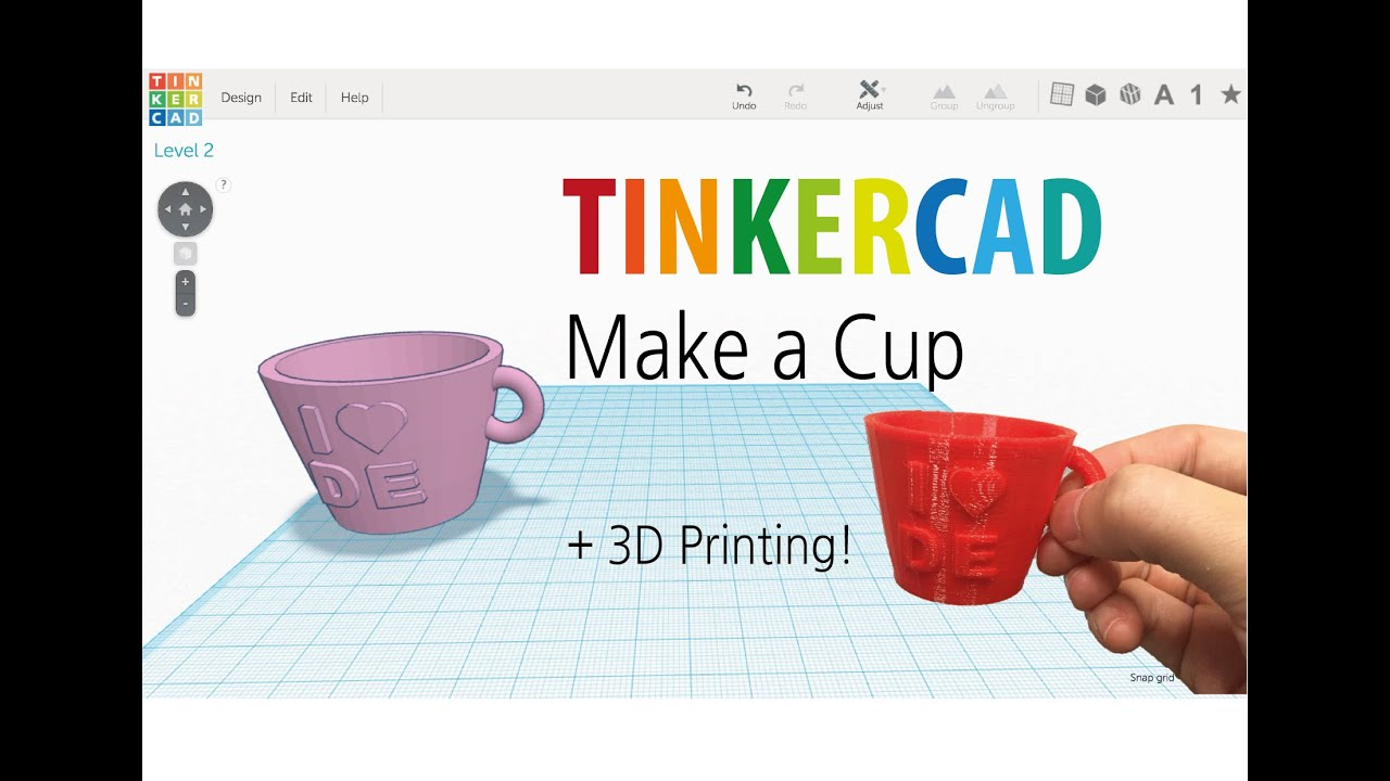 9 make a cup by tinkercad 3d printing youtube Tinkercad 3d
