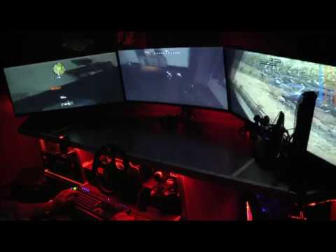 Call of Duty Black Ops 4 with AURA (Game RGB) ROG 7680x1080 Dolby Atmos