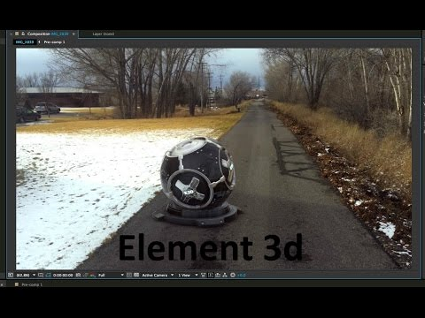 Element 3D + Tracked Footage