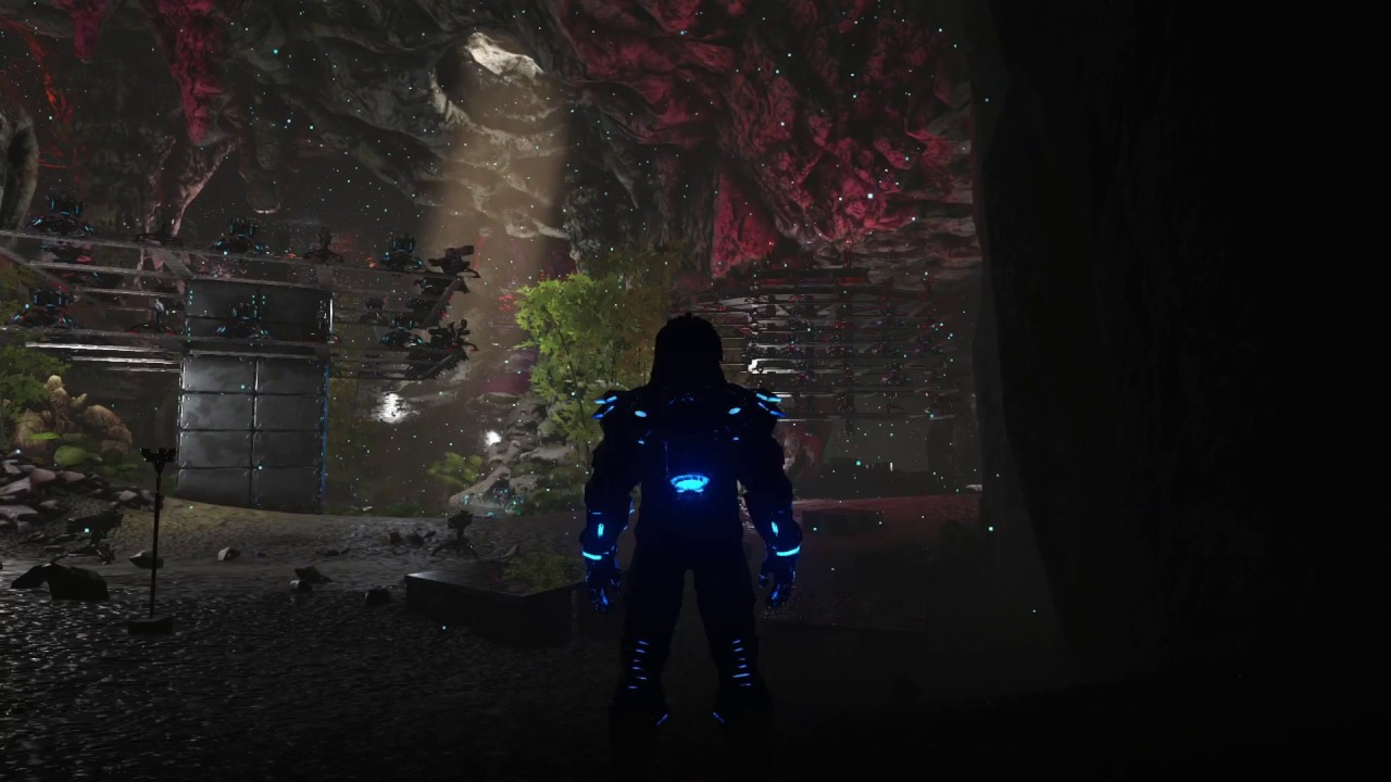 Ark Unofficial Ragnarok Dark Cave Base Tour