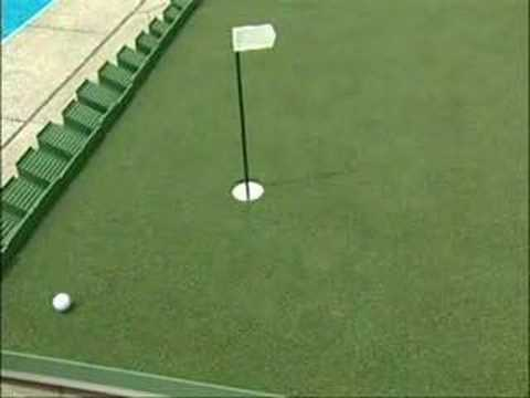 Portable Putting Green for Golfers - YouTube