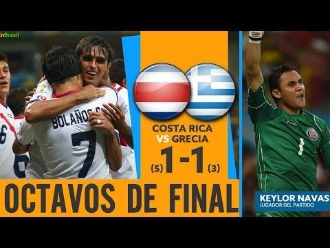 Costa Rica vs Grecia - Viviendo los Octavos de Final! Mundial 2014 -- Resumen con reacciones