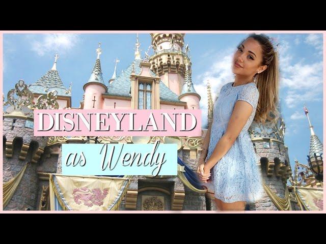 MY TRIP TO DISNEYLAND! as Wendy from Peter Pan