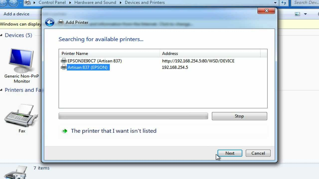 Add Printer Using IP Address in Windows Once you have the Printer IP address, you can follow the steps below to Add printer using IP Address in Windows 1. Click on Windows Start button and then click on the Settings icon. 2. On the Settings screen, click on Devices option. 3.
