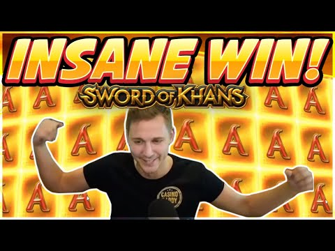 INSANE WIN! Sword Of Khans Big Win - NEW SLOT - Casino Games From Casinodaddy Live Stream