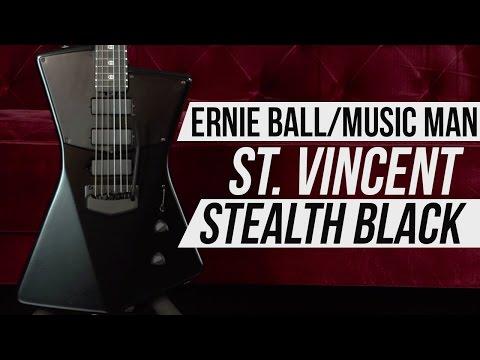 Ernie Ball Music Man St. Vincent Stealth Black