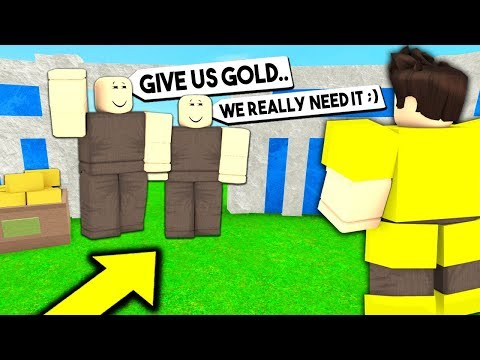 NOOBs Asked For GOLD.. But Who They Really Were WILL SHOCK YOU! (Roblox Booga Booga)