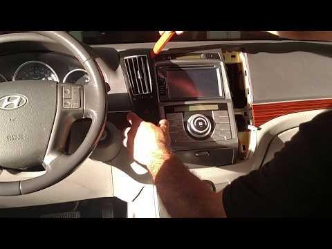 Vgsound  - como remover painel rádio -  Hyundai Veracruz