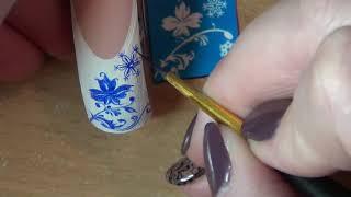 НОВОГОДНИЙ ДИЗАЙН НА НОГТЯХ/ЗИМНИЙ ДИЗАЙН НОГТЕЙ/роспись ногтей/Nail art painting